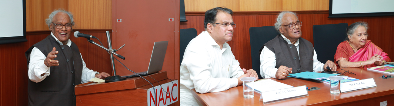 Photo of NAAC Silver Jubilee Lecture Series: An Oration by Bharat Ranta Prof. C.N.R. Rao